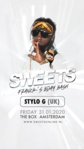 Stylo G en Amsterdam @ The Box