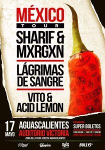 Sharif & Mxrgxn en Aguascalientes @ Auditorio Victoria