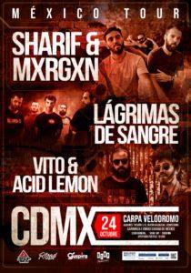 Sharif & Mxrgxn en CDMX @ Carpa Velodromo